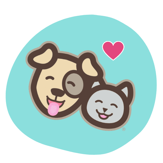Smiling dog and cat Prudent Pet logo
